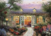 Cottage fleuri de Thomas Kinkade