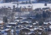 En suisse, Gstaad sous la neige