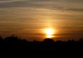coucher de soleil  dans la baie
