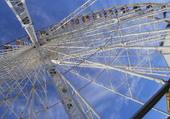 la grande roue à Ronze Les Bains