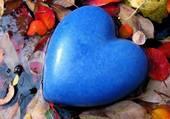 un coeur bleu