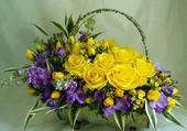 joli panier fleuri