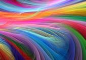 couleurs de l'arc en ciel