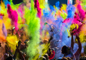 color party Indienne