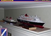 maquettes du France et du Queen Mary 2