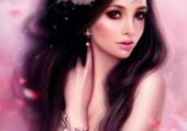 portrait d'une dame en rose