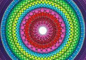 Puzzle mandala of Inner peace