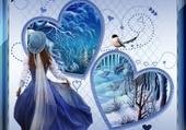 un hiver tout en bleu