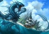 Puzzle Dragon d'eau / bateau à voile