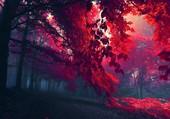 Puzzle arbre theme rouge