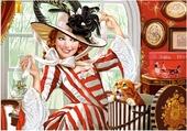 Art - La Dame Au Chapeau & Le Chat
