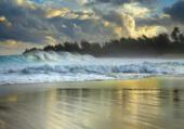 ciel ennuagé sur mer démontée