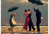 Jack Vettriano  majordome sous la pluie
