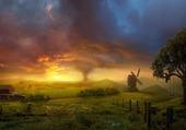 Tornado in the field