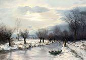 La rivière gelée en hiver