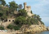 Chateau avec vue sur la mer
