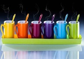 Puzzle tasses colorées
