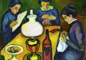 3 femmes a table-gabriele munter