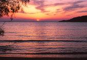 coucher de soleil dans les Cyclades
