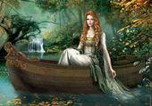 La prêtresse dans la barque