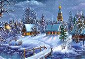 Puzzle scène hivernale