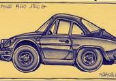 caricature  d'auto