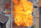 Explosion de gaz sur un chantier.