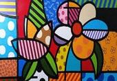 Puzzle tableau abstrait