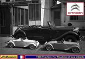 Roadster Traction 7cv et ses enfants