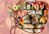 Puzzle fleurs et oiseau
