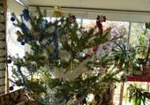 Puzzle Sapin de Noël bleu blanc