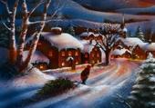 carte postale d'hiver