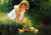 L'enfant & les canards