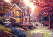 Puzzle Cottage américain