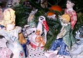 crèche naissance de Jésus cigogne