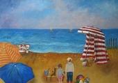 journée à lé plage