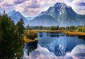 reflets montage dans lac