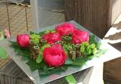 Belle assiette de fleurs