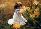 Fillette au fleurs - Zolan