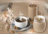un café a la chandelle