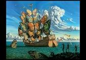 bateau papillons