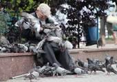 Puzzle l'homme aux pigeons