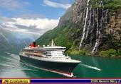 Queen Mary 2 dans un Fjord