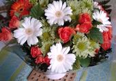 Bouquet tricolore .