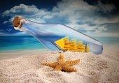 La mer, l'étoile... la bouteille