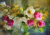 Belle peinture florale