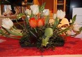 Jolie composition avec tulipes