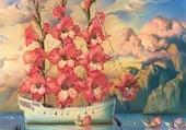 Bateau fleurs - Kush