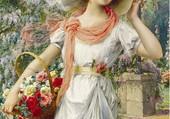 la femme au panier de fleurs