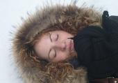 sieste dans la neige